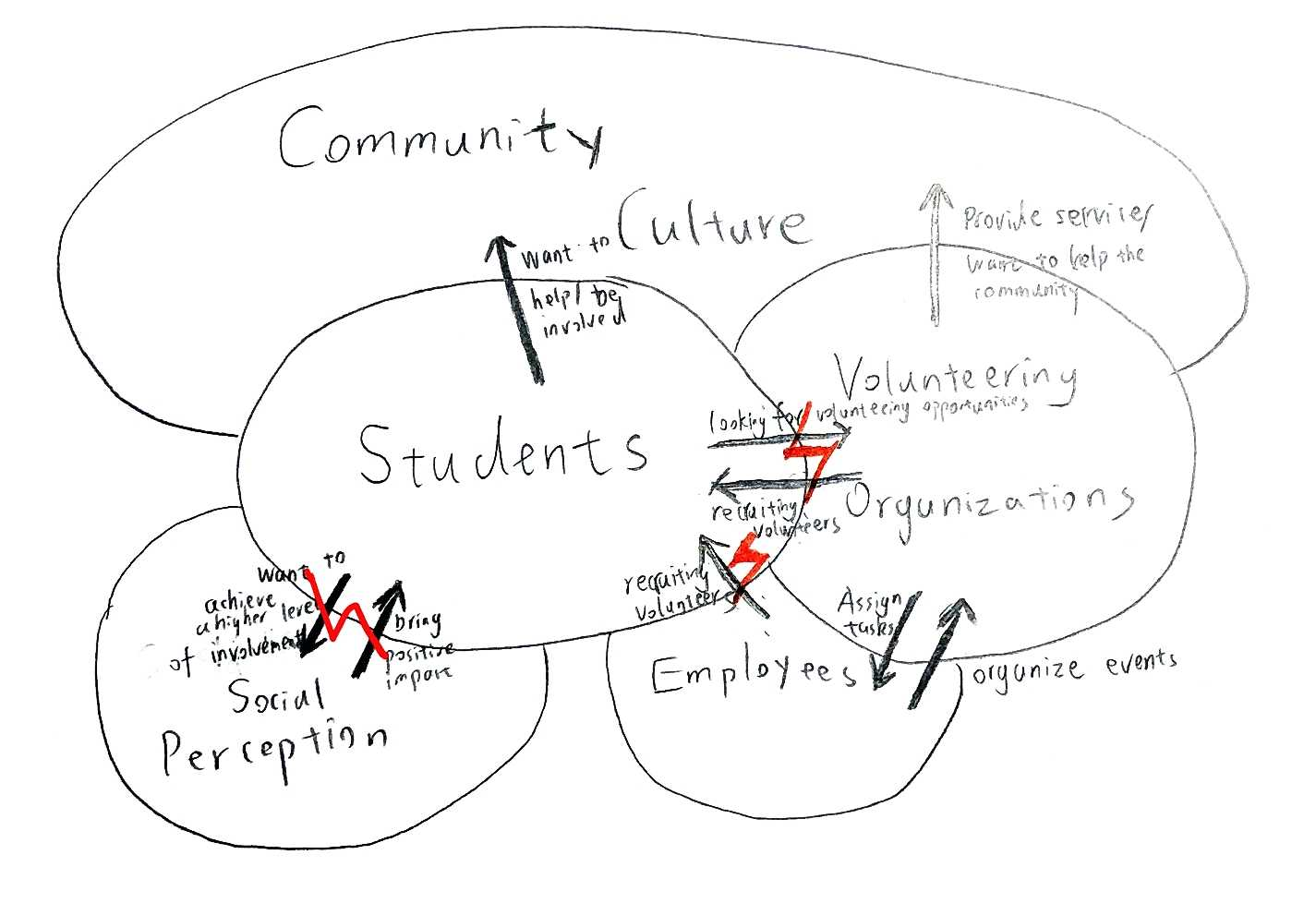 Cultural model for a student interested in volunteering