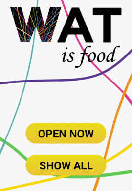 The WatIsFood home screen